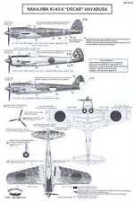 Berna Decals 1/32 NAKAJIMA Ki-43-II HAYABUSA OSCAR Japanese Fighter
