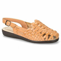 Softspots Womens Tobago Leather Closed Toe Casual Strappy Sandals