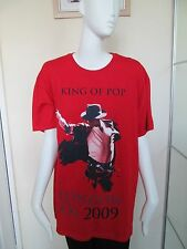 "GILDEN - RED, CREW NECK  ""KING OF POP O2, 2009"" ,T-Shirt Size L 100% COTTON"