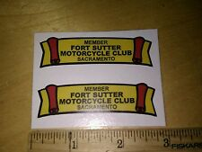 (1)  Fort Sutter  motorcycle club MOTORCYCLE   DECAL sacramento ca