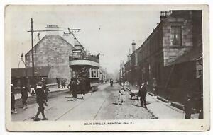 POSTCARDS-SCOTLAND-RENTON-RP. Main Street Renton with Tram.