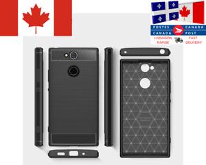 Étui Fibre Carbone / Carbon cover Sony Xperia XA1 XA2 XA2 Ultra  XA3 XZ1 XZ2