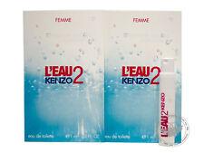 Perfume Vials (Trial Size) ~ Kenzo L'Eau 2 Pour Femme 1ml Edt Spray x 2 units