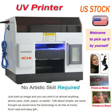 A4 UV Printer 6 Color for Phone case/cover Glass Metal Wood 3D Embossed & INK