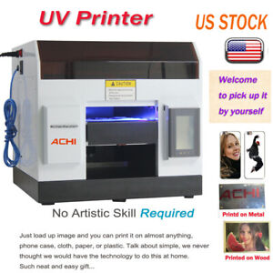 A4 UV Printer 6 Color for Phone case/cover Glass Metal Wood Embossed & INK