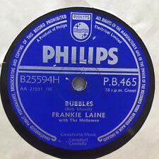"FRANKIE LAINE: Bubbles / Cool Water (UK Philips B25594H / P.B. 465 / 10"")"
