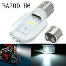 6LED Headlight Bulb Lamp BA20D H6 1200LM Hi Lo Beam Motorcycle Motorbike Scooter
