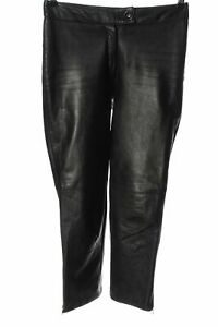 GIPSY Lederhose schwarz Casual-Look Damen Gr. DE 36 Hose Trousers Leder