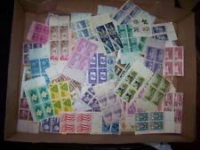 25 US Postage Stamp Blocks = 100 x stamps Lot 1930s-1970s MNH UNUSED