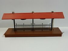 MTH Passenger Platform O scale Red Lighted Fence