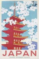 Japan Poster Japanese Government Railways - Kunstdruck Werbeplakat 61 x 91,5 cm