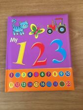 My 123 Book Pre School / Nursery Over 20 Pgs of Colourful Pictures & Numbers by