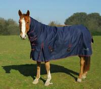 Rhinegold Aspen 350G Heavyweight Full Neck Combo Horse Turnout Rug in Navy/Red