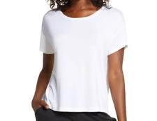 Sz: XS Tommy John Women's Second Skin Pajama Tee T-Shirt White NWOT