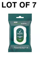 *LOT OF 7*Degree Men Overtime Deodorant Wipes- FREE SHIPPING
