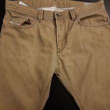 Diesel THAVAR Mens Jeans W37 L30 Beige Slim Fit Skinny High Rise