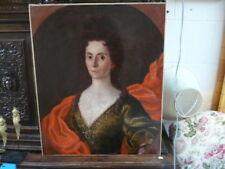 HUILE SUR TOILE  PORTRAIT DE MARIE CLAVEL DATE 1710 DEBUT DU 18 EME SIECLE