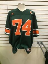 New Miami Hurricanes Football Jersey Mens Xl Stiched Green Colosseum #74