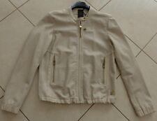 G-Star  Damen Leder Jacke  CL Bomber Shirt beige Größe L neu m.  Etikett!!