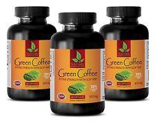 Green Coffee Bean Powder 800mg - Green Coffee Extract GCA - Fat Burner 180 Pills