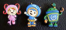 3 x Team Umizoomi Milli Geo Bot jibbitz croc shoe charms wristbands charm crocs