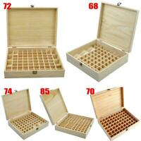 #QZO 68-85 Slots Oil Aroma Storage Wooden Case Box Essential Organizer Container