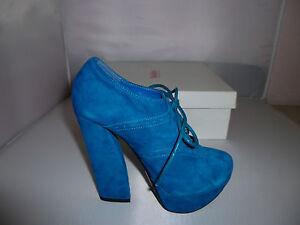 Mollini Heels Style Vashti in Cobalt Suede Leather size 36 NEW - W1-077
