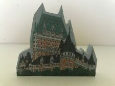 2000 Cat'S Meow Chateau Frontenac International Village Canada Wood Shelf Sitter