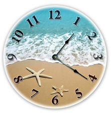 "12"" Starfish At Beach Shoreline Clock - Large 12 inch Wall Clock - 2107"