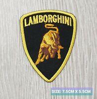Lamborghini Car Motor logo Badge Embroidered Iron On/Sew On Patch