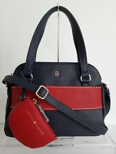 Tommy Hilfiger Women's Satchel Bag w/ Pouch (Blue w/ Red)