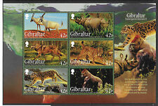 Gibraltar 2012 Endangered Animals MS Part 2  MNH