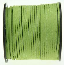 10ya 3mm vert Suede Leather à cordes Joaillerie Artisanat Fil Cordons