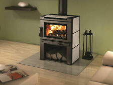 Osburn MATRIX Wood Burning Stove Contemporary With Blower and Wood Storage