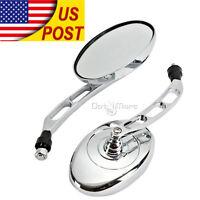 Oval Rearview Mirrors Fit Yamaha V-Star XVS 250 650 950 1100 1300 Custom Classic