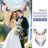 Woven Macrame Wall Hanging Wedding Backdrop Chic Bohemian Tassel Home Art