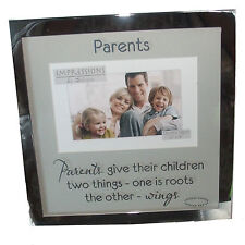 """Impressions By Juliana - Parents - Silver Coloured Photo Frame 6"""" x 4"""""""