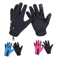 Winter Warm Leather Gloves Women Mens Touch Screen Thermal Fleece Lining Mittens