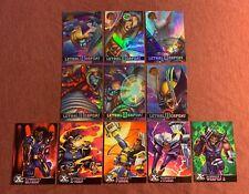 1995 MARVEL FLEER ULTRA X-MEN CHROMIUM CARD LOT OF 11 INSERT CARDS PLEASE READ