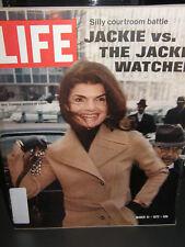 Life magazine .  jackie kennedy onassis       1972 nostalgic vintage  magazine