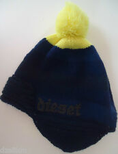 NWT Diesel Men's Blue - Yellow Lightweight Knit Bobble Hat