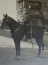 Ulane 1.WK Soldat mit Pickelhaube und Säbel hoch zu Pferd Fotografie 1.Weltkrieg