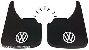 Universal Mud flaps Front Rear To Fit VW Volkswagen White Golf MK4 MK5 MK6 MK7