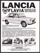 "1961 Lancia Flavia Sedan photo ""Unmatched Quality"" promo print ad"