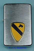 1st CAVALRY DIVISION WIND PROOF PREMIUM LIGHTER IN A GIFT BOX  ARMY   LBC015