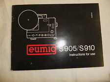 Instructions cine projector EUMIG S905 / S910 SOUND - CD/Email