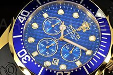 New Invicta Sea Base Blue Dial Sapphire Crystal Sport SS Poly Strap Watch Rare