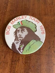 Bob Marley Official Vintage 1976 UK Tour Badge Original Very Rare