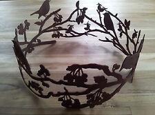 Edelrost Ring Äste Beeren Vögel  Schale Dekoration Garten Terrasse Beet Tisch
