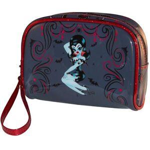 Kreepsville 666 Ladies Girls Vampire Pin-Up Make Up Bag By Miss Fluff